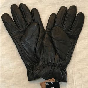 3M Thinsulate Black Leather Gloves Small